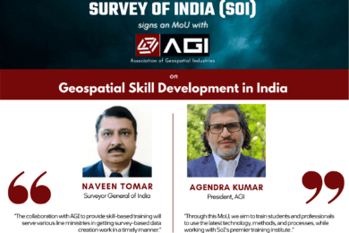 Survey of India signs MoU with Association of Geospatial Industries